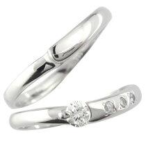 [送料無料]ペアリング結婚指輪シルバーマリッジリングダイヤダイヤモンド結婚記念リング2本セット【_包装】0824カード分割【コンビニ受取対応商品】