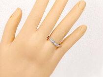 ペアリングダイヤモンドダイヤピンクサファイアホワイトゴールドk18マリッジリング結婚指輪2本セット