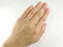 ハワイアンペアリングプラチナリングピンクゴールドk18結婚指輪k18PG結婚記念リングハワイアンジュエリー2本セット