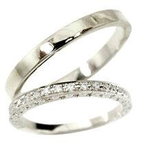 結婚指輪ペアリングマリッジリングダイヤモンドダイヤエタニティリングハーフエタニティプラチナリング2本セット