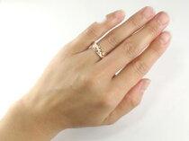 結婚指輪マリッジリングペアリングハワイアンピンクゴールドk18ミル打ち2本セットハワジュ【送料無料】【0831otoku-s】【0831otoku-p】【0831otoku-f】