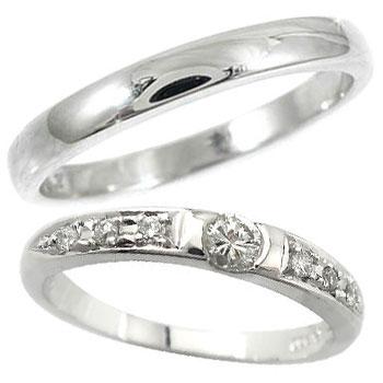 [送料無料]ペアリング マリッジリング 結婚指輪 ダイヤモンド プラチナ 2本セット【楽ギフ_包装】0824カード分割【コンビニ受取対応商品】:かざり屋