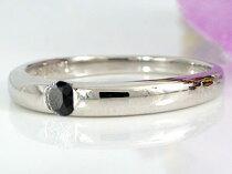 [送料無料]ペアリング結婚指輪マリッジリング一粒ダイヤダイヤモンドブラックダイヤモンドプラチナ2本セット【_包装】