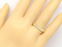 【送料無料】ペアリング結婚指輪マリッジリングダイヤモンドイエローゴールドk18ミル打ちハンドメイド2本セット【J&W0917】