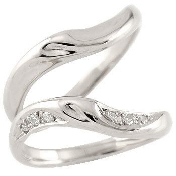 [送料無料]ペアリング 結婚指輪 マリッジリング プラチナ ダイヤモンド ハンドメイド 2本セット【楽ギフ_包装】0824カード分割【コンビニ受取対応商品】:かざり屋