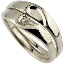 [送料無料]ペアリングプラチナダイヤモンド結婚指輪マリッジリングミル打ちハート合わせるとハートハンドメイド2本セット【_包装】【RCP】