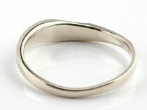 [送料無料]結婚指輪マリッジリングペアリングダイヤモンドハートホワイトゴールドk18ミル打ち合わせるとハートハンドメイド2本セット18k18金【_包装】