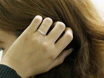 [送料無料]結婚指輪ペアリングマリッジリング指輪ダイヤダイヤモンドホワイトゴールドk18ハンドメイド2本セット18k18金【_包装】
