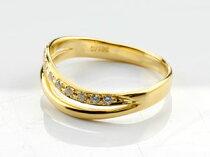 [送料無料]ペアリング結婚指輪マリッジリングイエローゴールドk18ダイヤモンドソフトラインハンドメイド2本セット【_包装】