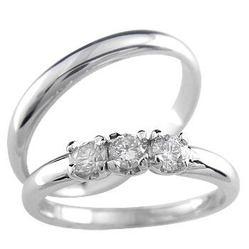 [送料無料]ペアリング プラチナ900ダイヤ ダイヤモンド リング結婚指輪 マリッジリング 2本セット【楽ギフ_包装】0824カード分割【コンビニ受取対応商品】:かざり屋