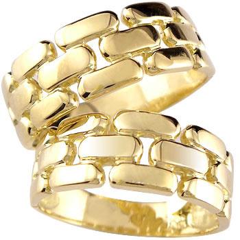 [送料無料]ペアリング イエローゴールドk18 結婚指輪 マリッジリング 幅広 2本セット 18k 18金【楽ギフ_包装】0824カード分割【コンビニ受取対応商品】:かざり屋