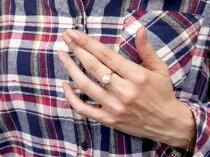 [送料無料]真珠指輪パールイエローゴールドk18アメジストダイヤモンドリングピンキーリング本真珠ダイヤ18金18kレディース【_包装】