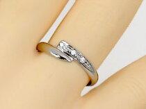 ピンキーリングダイヤモンドリングダイヤモンド0.04ctホワイトゴールドk18指輪ダイヤ