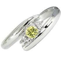 指輪ピンキーリングサファイアイエローカラーダイヤモンドプラチナリングプラチナ900ダイヤ