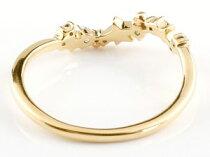 [送料無料]星スターリングイエローゴールドk1818金18kサファイアダイヤモンド9月誕生石ピンキーリング流れ星リング指輪重ね付け華奢細め細身レディース【_包装】05P27May16