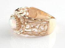 【送料無料】オパールリングダイヤモンドピンクゴールドk18一粒石指輪10月誕生石【_包装】【after1207】