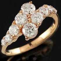 [送料無料]ダイヤモンドリング婚約指輪エンゲージリングピンクゴールドk18レディース【_包装】