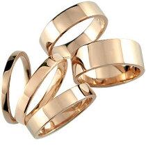 [送料無料]ピンクゴールドk18リング指輪ピンキーリング地金リング宝石なし選べるリング幅【_包装】【RCP】
