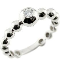 [送料無料]婚約指輪エンゲージリングダイヤモンドリング指輪丸玉ボールリングホワイトゴールドk1818金ダイヤダイヤモンドリングピンキーリング一粒レディース【_包装】05P04Jan1505P10Jan15