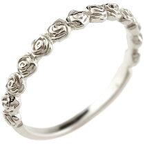 [送料無料]バラ薔薇プラチナリングシンプルピンキーリング指輪華奢リング重ね付け指輪細め細身pt900アンティークレディース【_包装】