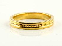 [送料無料]結婚指輪マリッジリングイエローゴールドk18ペアリング結婚式地金リングミル打ち宝石なしシンプル【_包装】【RCP】