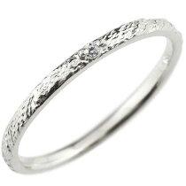 [送料無料]シンプルダイヤモンドリングピンキーリング指輪プラチナPT900華奢リング重ね付けリング指輪細め細身アンティークレディース【_包装】0824カード分割