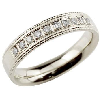 [送料無料]ダイヤモンドリング 指輪 ダイヤ シンプルストレートホワイトゴールドk18 レディース18k 18金【楽ギフ_包装】0824カード分割【コンビニ受取対応商品】:かざり屋