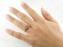 [送料無料]オープンハートプラチナ900ピンクゴールドk18リングダイヤモンドリング指輪ダイヤレディースピンキーリングレディース【_包装】【RCP】