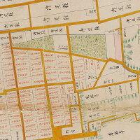 明治元年現状仙台城市之図