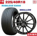 【取付対象】225/40R18 ALPINA HABILEAD サマータイヤ ホイールセット 4本セット S2000 (ブラック)