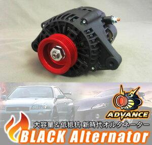 ADVANCE アドバンス ブラックオルタネーター90Aレビン, トレノ AE86, AE92 / 4A-GE用品番:BA-A...