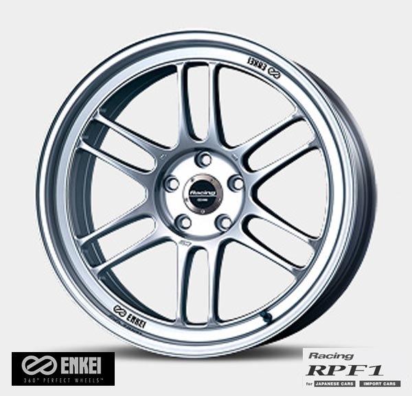 タイヤ・ホイール, ホイール ENKEI Racing RPF1 17 9.5J 5H114.3 38 SILVER for JAPANESE CARS RPF1 ()