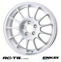 【 ENKEI Sports RC-T5 for TARMAC 】 15インチ 6.5J 4H-100 +35 ホワイト 1本 (エンケイ スポーツ 軽量ホイール)