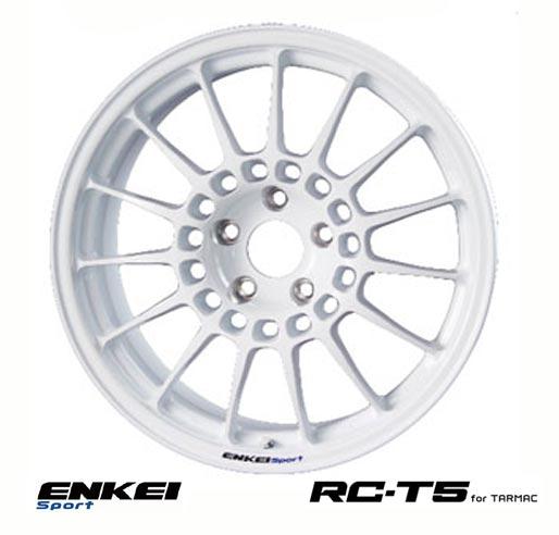 【 ENKEI Sports RC-T5 for TARMAC 】 18インチ 8.0J 5H-100 +48 ホワイト 1本 (エンケイ スポーツ 軽量ホイール IRS MOTOR SPORT)