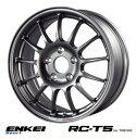 【 ENKEI Sports RC-T5 for TARMAC 】 16インチ 6.5J 4H-100 +45 ダークシルバー 1本 (エンケイ スポーツ 軽量ホイール)