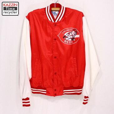 古着 90sチョークライン MLB REDS パネルジャケット ★ XLサイズ クリスマス プレゼント ギフト