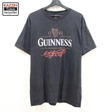 2000s ギネスビール 半袖 プリント Tシャツ 企業モノ 古着 ★ Lサイズ ブラック