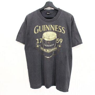 ギネスビール プリント 半袖 Tシャツ 古着 ★ 表記Lサイズ ブラック