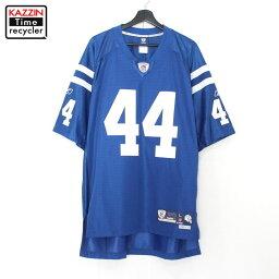 NFL インディアナポリス コルツ Colts オーセンティック ユニフォーム ゲームジャージ ♯44 CLARK Reebok アメフト 古着 ★ 表記Lサイズ ビッグサイズ ブルー