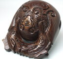 仏具 『木魚 欅 上彫 5.5寸』[仏壇][木魚][ポクポク]