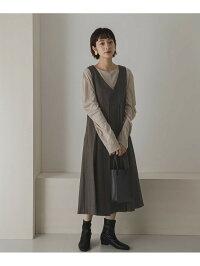 [Rakuten Fashion]【予約】【WEB限定】BIGプリーツジャンパースカート KBF ケービーエフ ワンピース ワンピースその他 レッド ブラック【先行予約】*【送料無料】