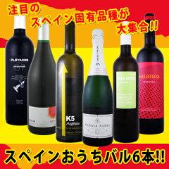 【送料無料】ぜ〜んぶ京橋ワイン独占輸入!!スペイン固有品種を知るならこの6本!!スペインおうち...