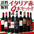 【送料無料】≪バラエティ豊かな個性を大満喫!!≫厳選イタリア赤ワイン9本セット!!