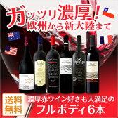 [1,500円以上で送料無料]【送料無料】ガッツリ濃厚!欧州から新大陸まで濃厚赤ワイン好きも大満足のフルボディ6本!