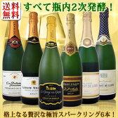 【送料無料】ぜんぶクレマン!フランスの高級瓶内2次発酵の伝統製法!クレマンだけの至福なるスパークリング6本!