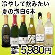 【送料無料】夏の超得スパークリング&白ワイン!高品質なる辛口泡&辛口白を厳選した泡白6本セット!