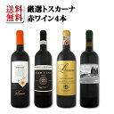 【送料無料】70セット限り★厳選トスカーナ赤ワイン4本セット
