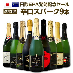 [クーポンで10%OFF]【送料無料】日欧EPA発効記念セール!限界突破の30%OFF!シャンパン入り辛口スパークリングワイン9本セット!