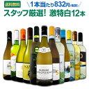 白ワイン セット 【送料無料】第93弾!超特大感謝!≪スタッフ厳選≫の激得白ワインセット 12本!