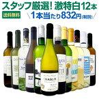 白ワイン セット 【送料無料】第105弾!超特大感謝!≪スタッフ厳選≫の激得白ワインセット 12本!